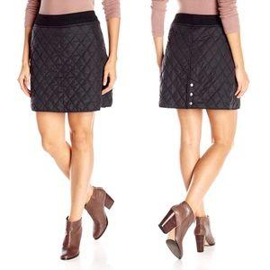 Prana black quilted skirt